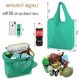 Grocery Bags Reusable Shopping Bags 10 Pack Foldable Washabl