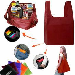 Grocery Shopping Bag Reusable Foldable Double Handles Big Wa