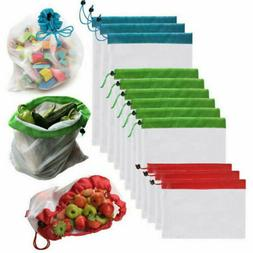 Grocery Shopping Bags Eco Friendly Fruit Vegetable Mesh Wash