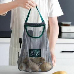 Hanging Bag Reusable Grocery Eco Shopping Tote Kitchen Fruit