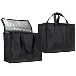 Home Insulated Reusable Grocery Bags,Sturdy Zipper,Foldable,