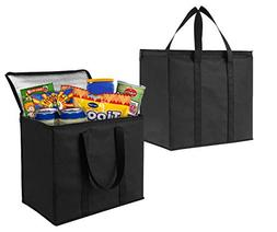 2 Pack Insulated Reusable Grocery Bag by VENO, Durable, Heav