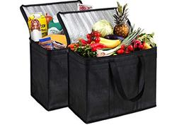 NZ Home 2 Pack Insulated Reusable Grocery Bags, Extra Large,