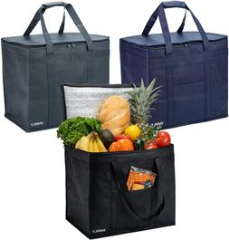 Insulated Reusable Grocery Bags  3 Pack of Heavy Duty Therma