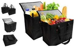 Insulated Reusable Grocery Bags, Sturdy Zipper, Foldable, Ea