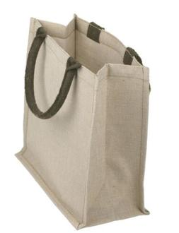Jute Cotton Reusable Eco-Friendly Tote Bag, Tote Bags, Jute