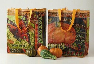 2 nwt reusable vintage golden butterfly pumpkin