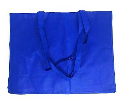 """3 Extra Reusable Grocery Shopping Tote Bags Recycled Eco 20"""""""