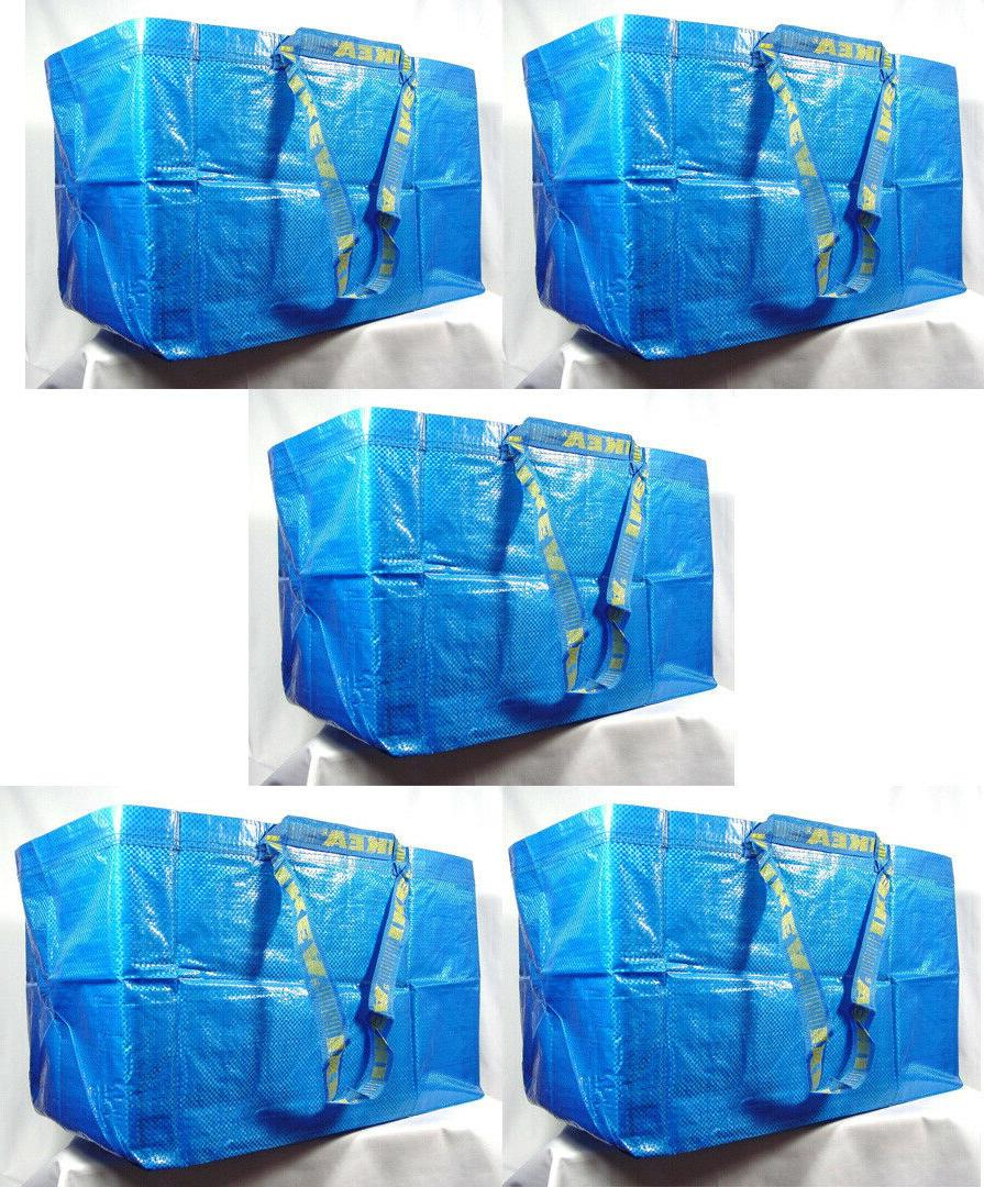 5 large reusable shopping bag laundry tote