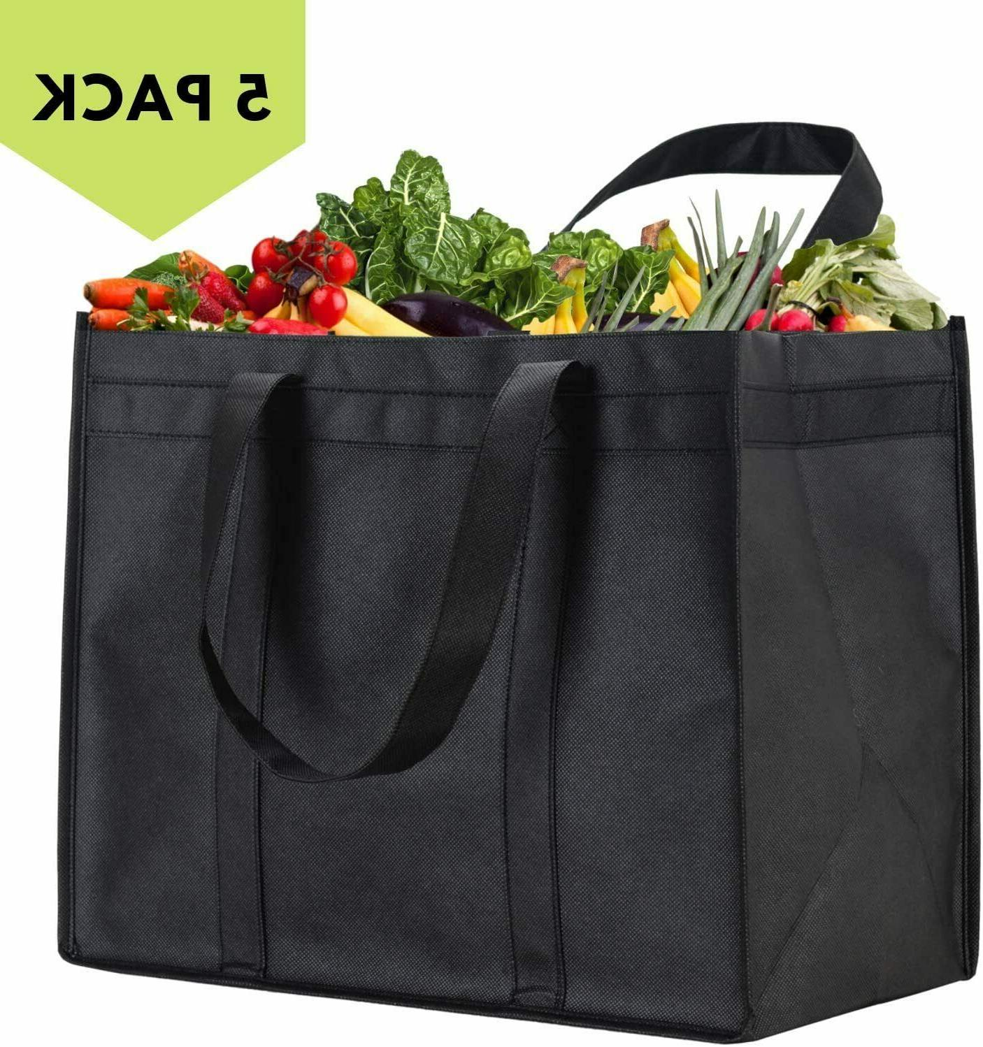 5 Grocery Shopping Tote,Foldable,Washable