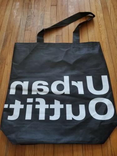 black tote bag reusable grocery shopping bag
