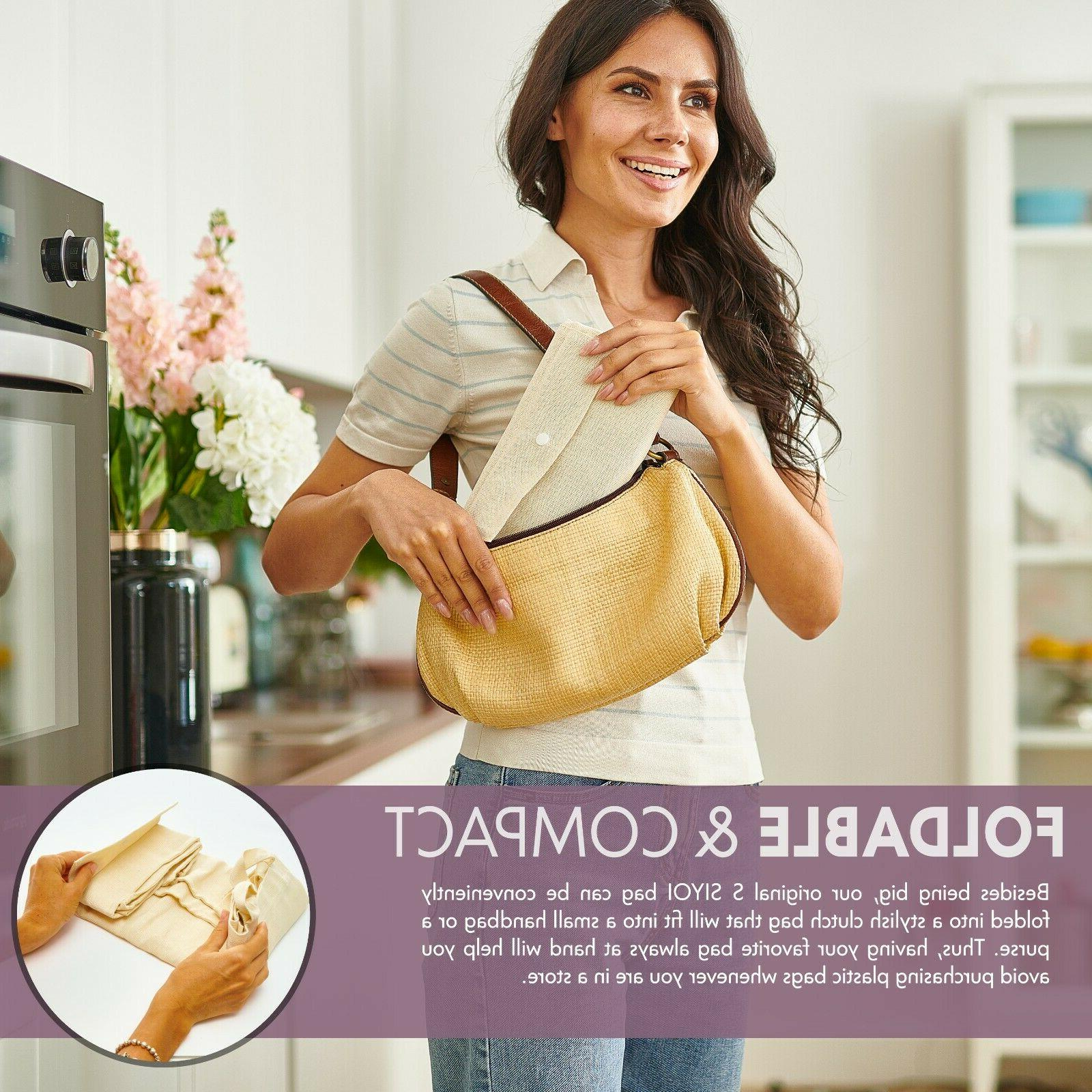 Canvas Bags, Shopping Washable Shopping Bags