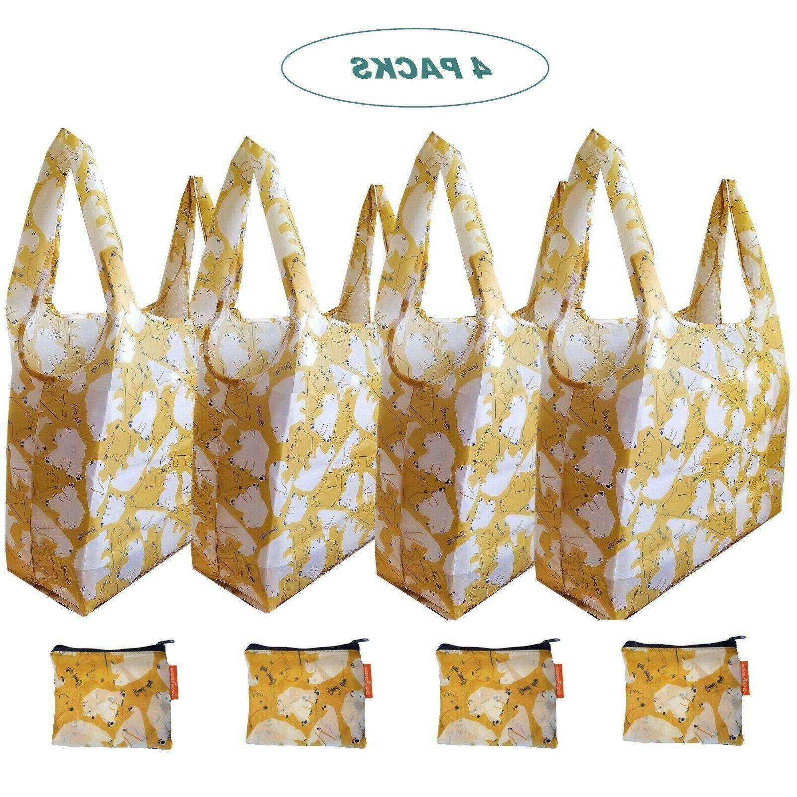 cute x large reusable foldable grocery shopping