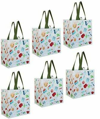 earthwise reusable grocery bags shopping pack of