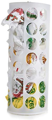 Grocery Bag Storage Holder - This Large Capacity Bag Dispens