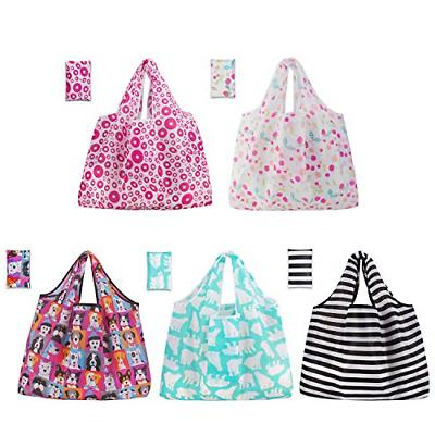 grocery shopping bags 5 pack reusable washable