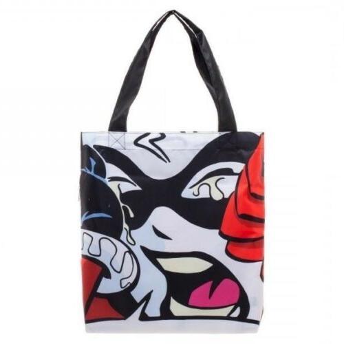 harley quinn packable handbag tote beach bag