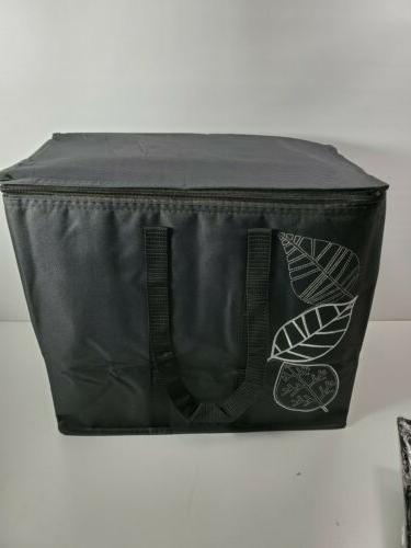 insulated reusable grocery bag blk ex large
