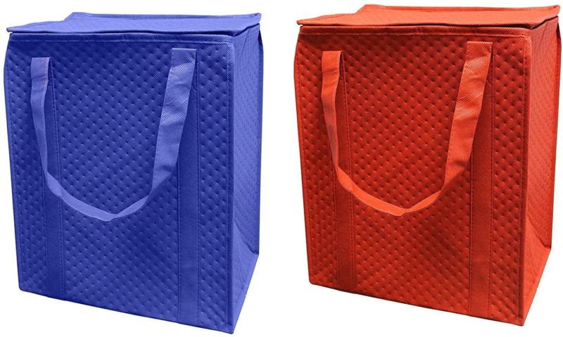 insulated reusable grocery shopping bag heavy duty