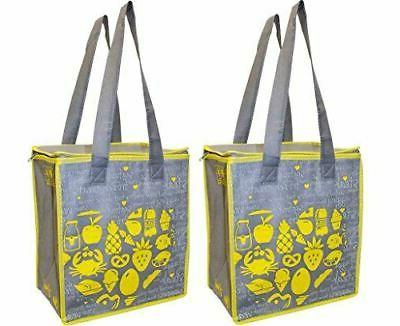 large insulated reusable grocery bag shopping hot