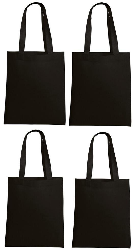 lot 10 tote bag reusable black shopping