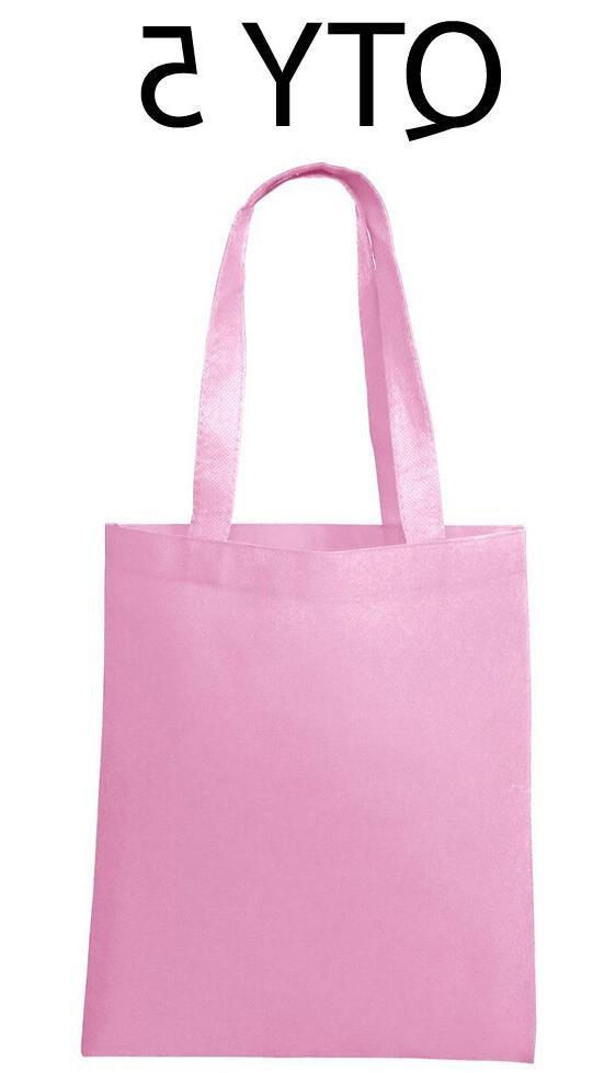 lot 5 tote bag reusable pink shopping
