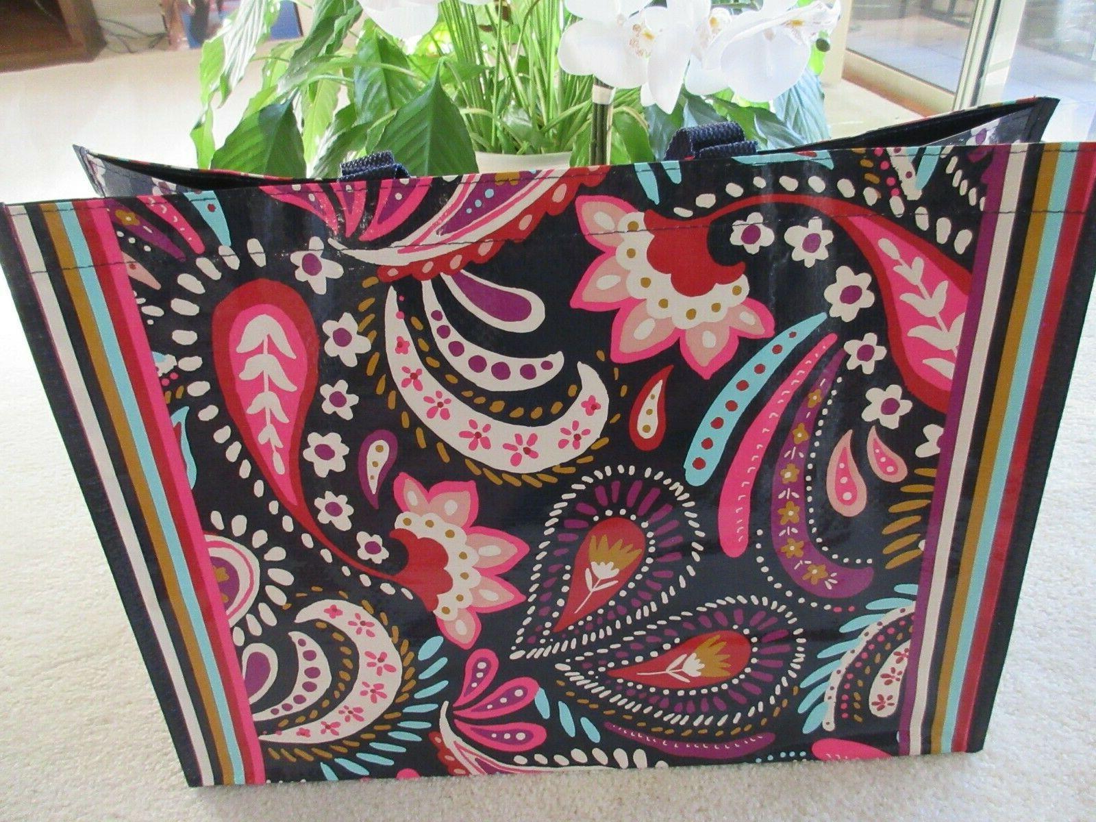 market tote reusable bag painted paisley print