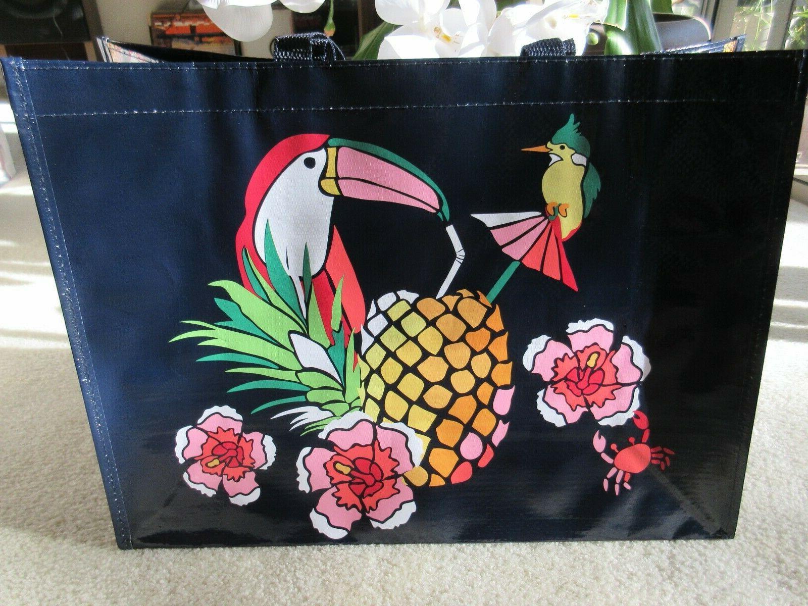 market tote reusable bag toucan party print