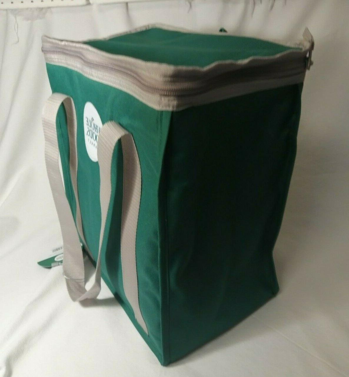 NWT WHOLE Reusable Insulated Cooler Green Shopping Bag