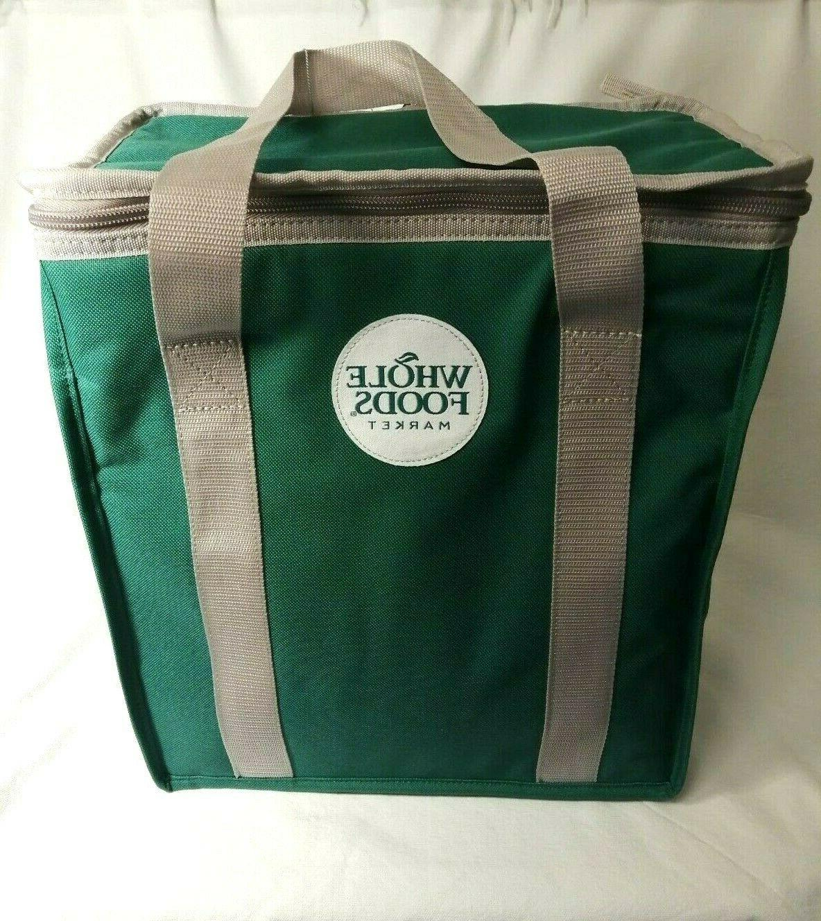 nwt market reusable insulated cooler green shopping