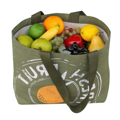 Reusable Grocery Tote Large Duty 12 Canvas