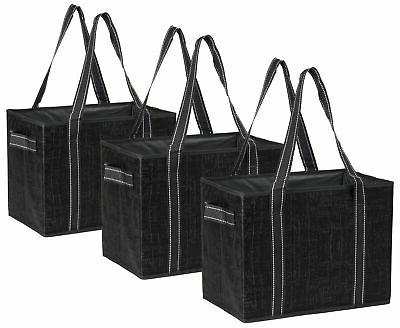 reusable grocery bags box reinforced bottom heavy