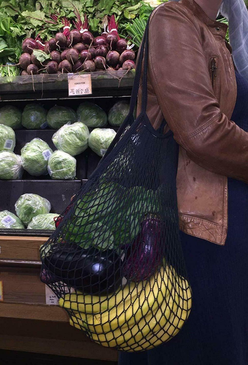 Reusable Grocery Bags Net Eco-Friendly Pack Tote Bag