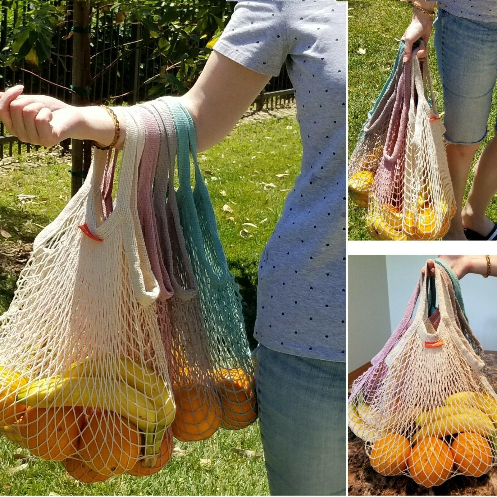 Reusable Grocery Bags Cotton String Net Shopping