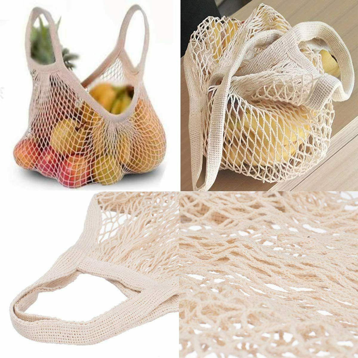 Reusable Mesh Cotton String Shopping