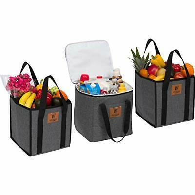 Tuff Viking Large Reusable Grocery Shopping Bags, Easy to Cl