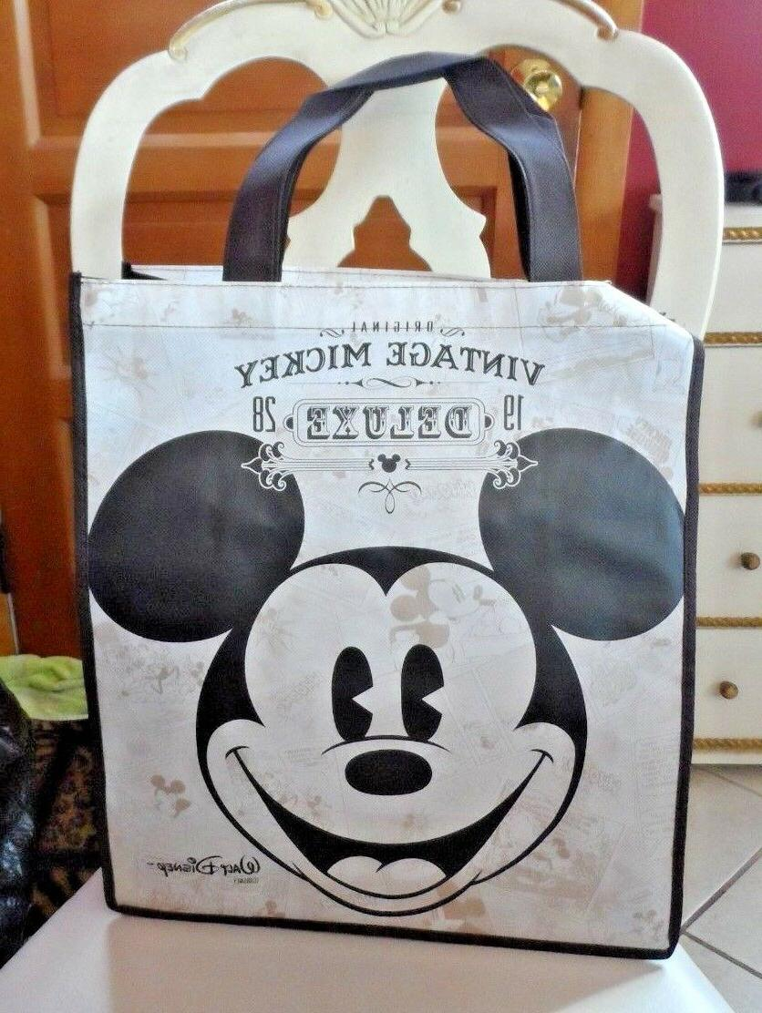 vintage mickey reusable tote grocery shopping gift