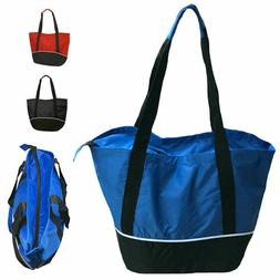 """Large Big 18 x14"""" Reusable Grocery Shopping Tote Bags Zipper"""