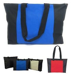 Large Big Reusable Grocery Shopping Totes Bag Bags Zippered