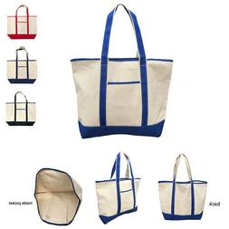 Large Big Cotton Canvas Natural Reusable Grocery Shopping To