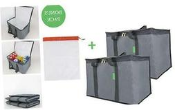 Large Insulated reusable cooler shopping bags for groceries