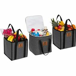 Large Reusable Grocery Shopping Bags, Easy To Clean, Long Ha