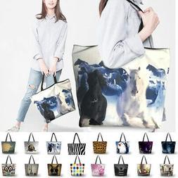 Large Washable Reusable Storage Bag Shopping Shoulder Tote H