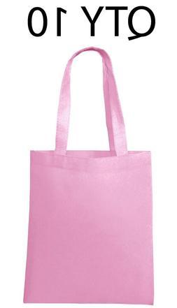lot 10 tote bag reusable pink shopping