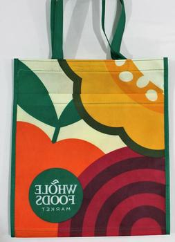 "Whole Foods Market Reusable Bag ""Fruits"" Eco Friendly Tote"