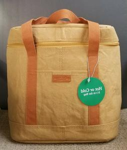 WHOLE FOODS MARKET Reusable Insulated Zippered Cooler Hot Co