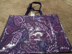 Vera Bradley Market Tote Reusable Bag Paisley Amethyst Print