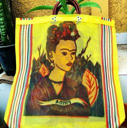 Mexico Frida Kahlo Mesh Market Bag Large Eco Purse Reusable