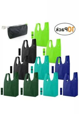 New 10 pack Reusable Grocery Bags Shopping Foldable Tote Bag