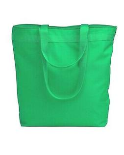 NEW GREEN Liberty Bags 8802 Zipper Tote Reusable Recycled Be